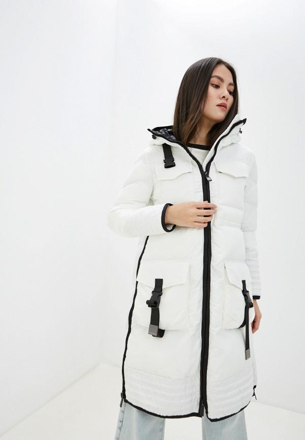 женская куртка pinko, белая