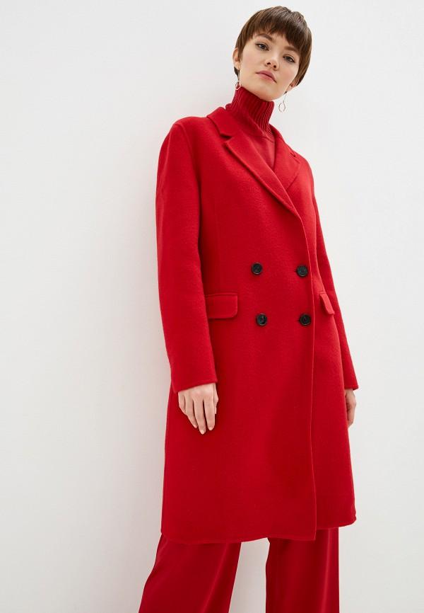 женское пальто pinko, красное