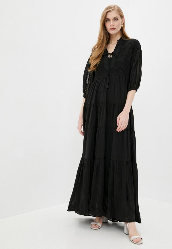 женское повседневные платье pinko, черное