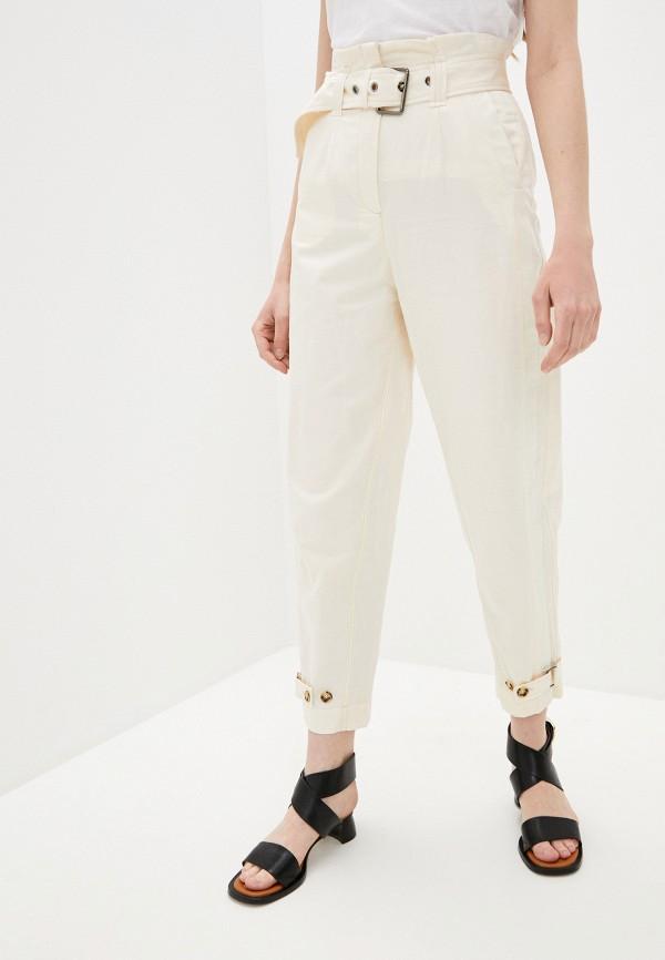 женские повседневные брюки pinko, бежевые