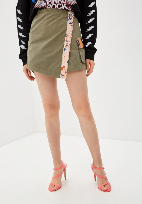 женская юбка pinko, хаки