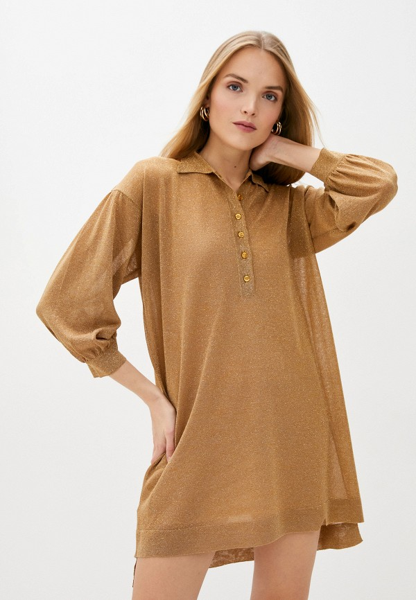 женское повседневные платье pinko, бежевое