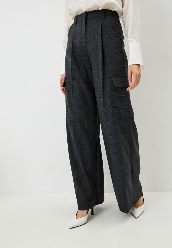 женские брюки pinko, серые