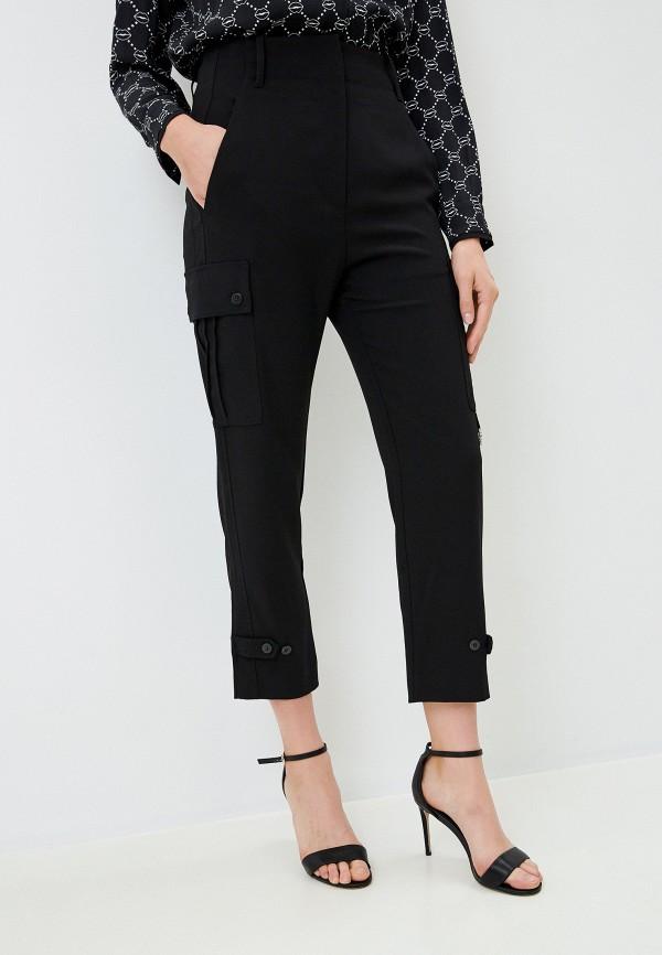 женские брюки pinko, черные