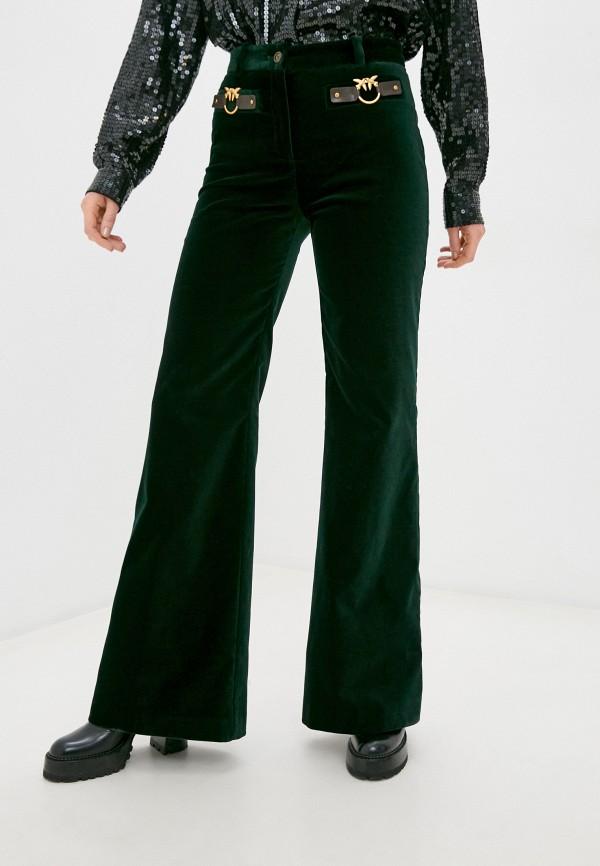 женские повседневные брюки pinko, зеленые