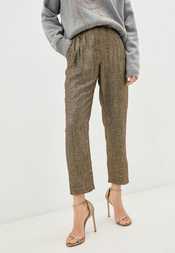 женские повседневные брюки pinko, золотые