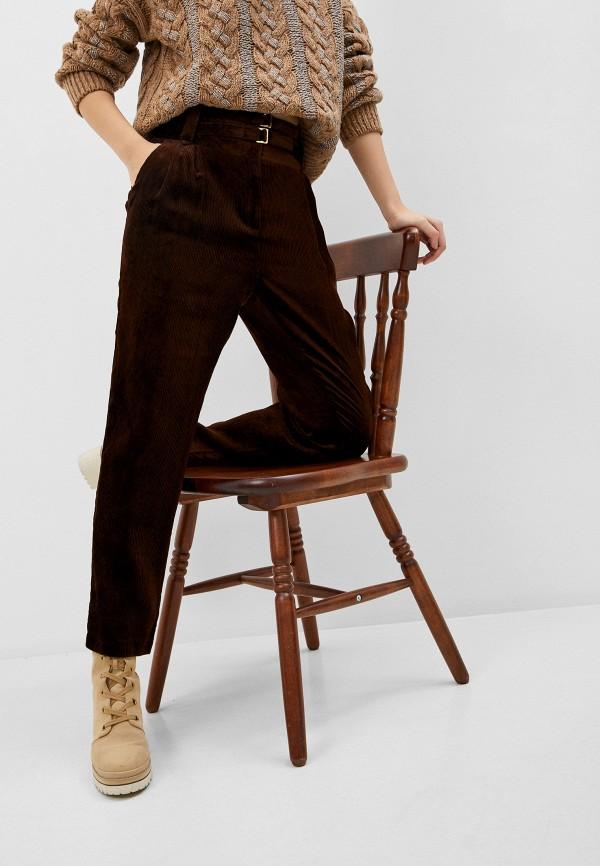 женские повседневные брюки pinko, коричневые
