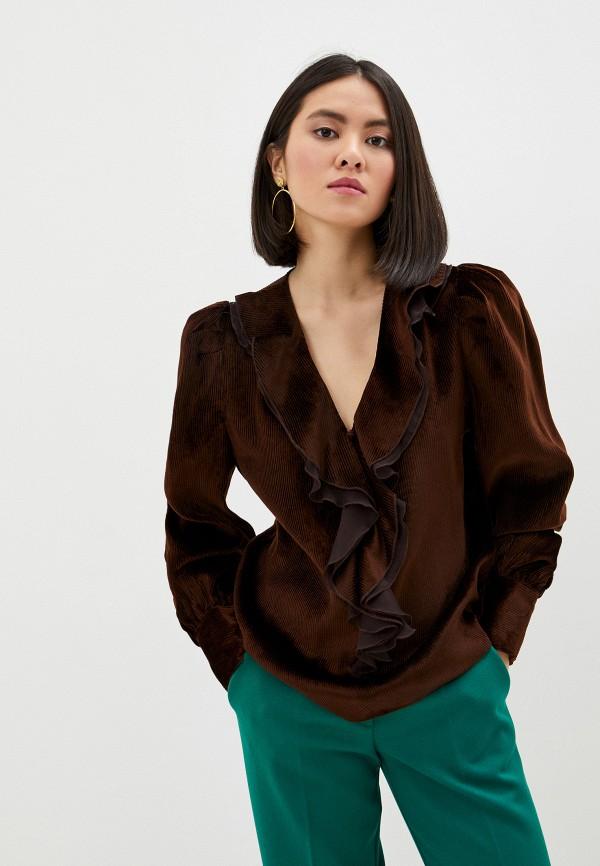 женская блузка pinko, коричневая