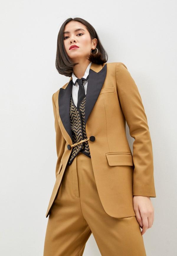 женский пиджак pinko, коричневый
