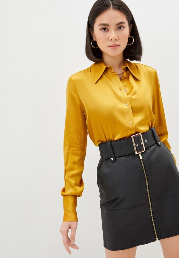 женская блузка pinko, желтая