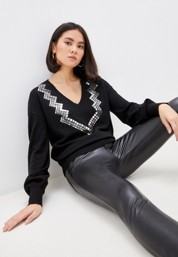 женский пуловер pinko, черный
