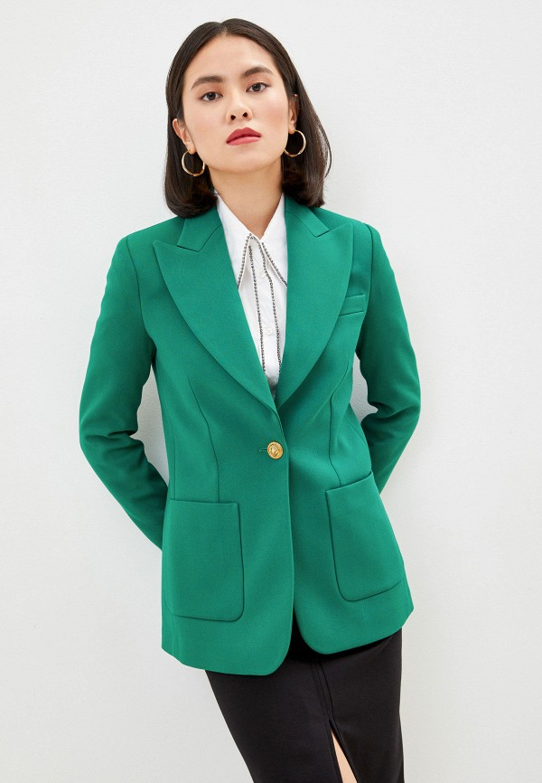 женский пиджак pinko, зеленый