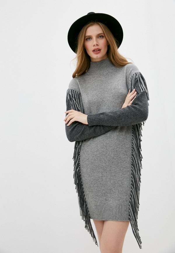 женское платье pinko, серое