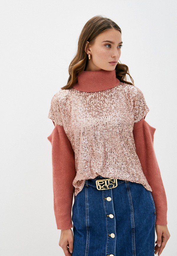 женский свитер pinko, розовый