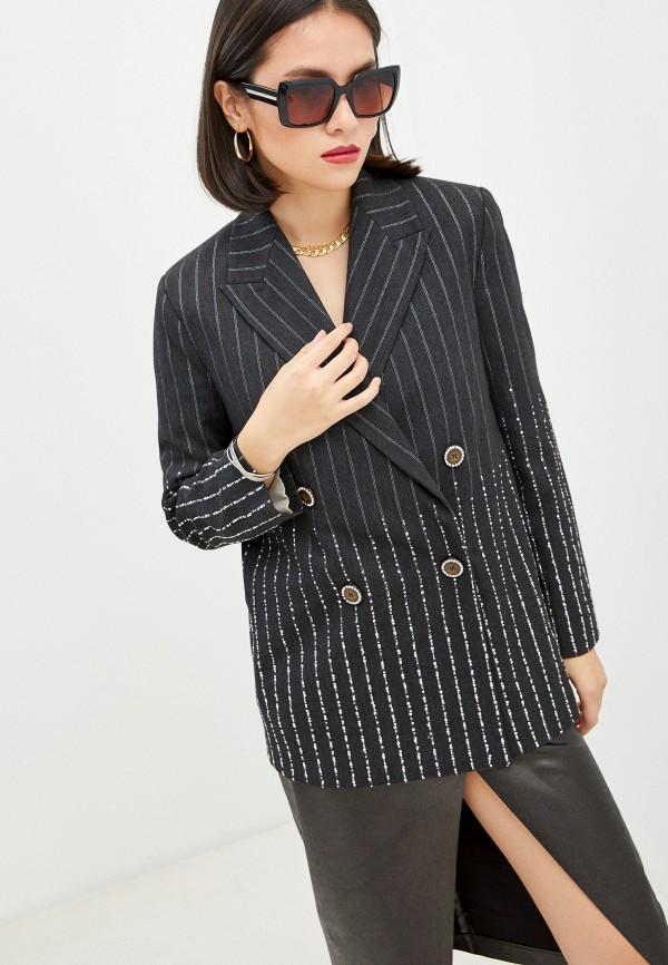 женский пиджак pinko, серый