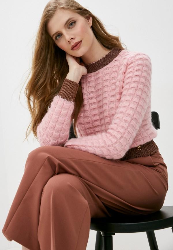 женский джемпер pinko, розовый