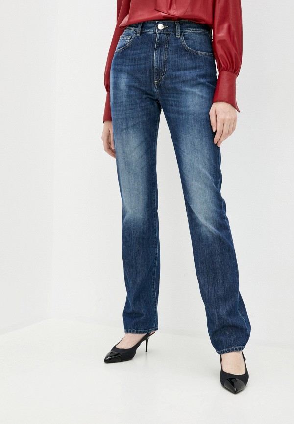 женские прямые джинсы pinko, синие