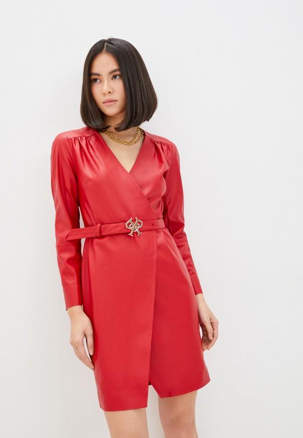 женское платье pinko, красное
