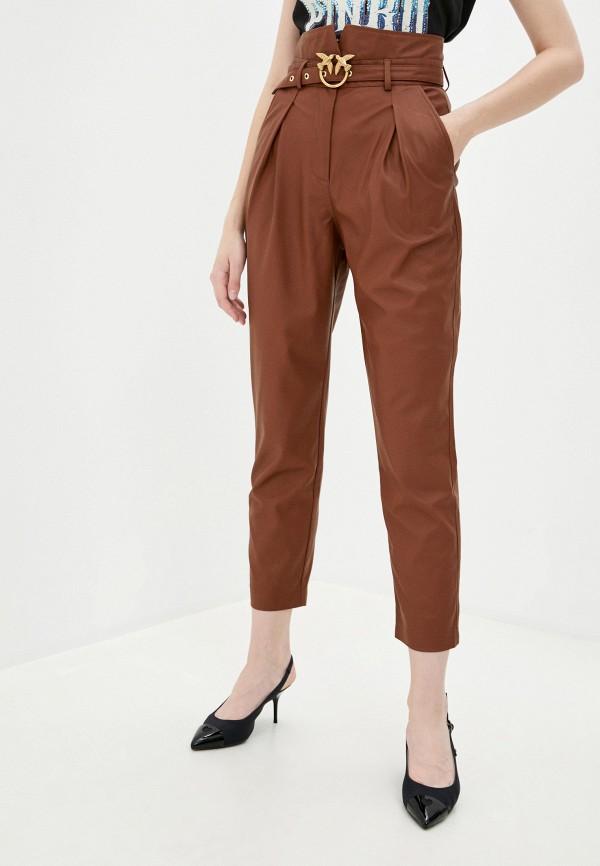 женские брюки pinko, коричневые