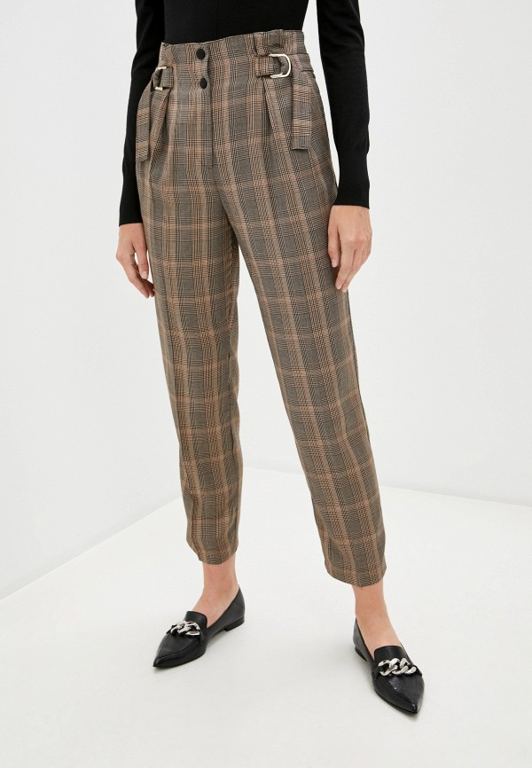 женские классические брюки pinko, коричневые