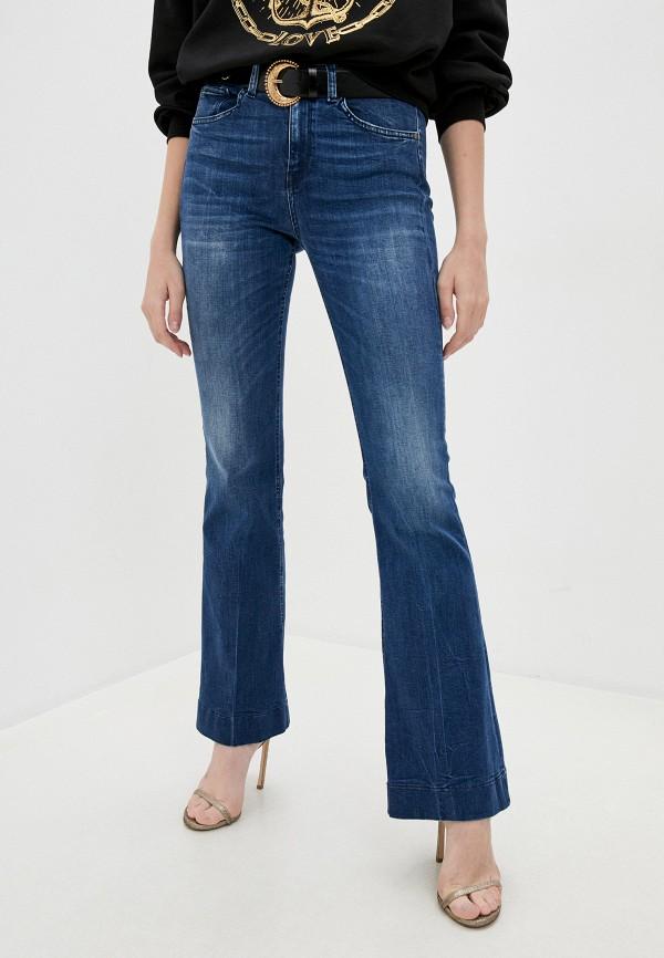 женские джинсы клеш pinko, синие