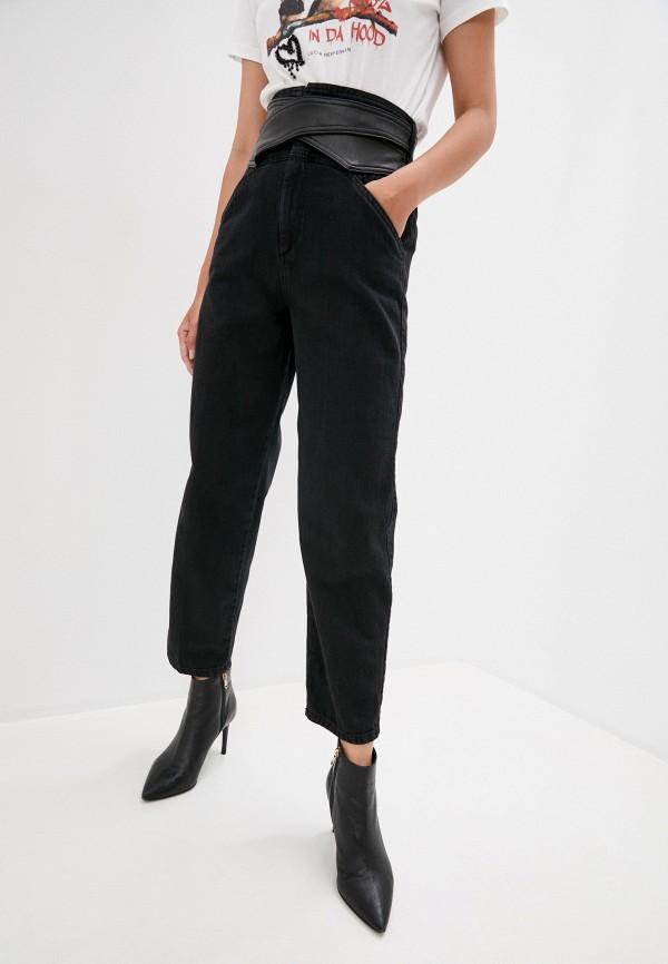 женские прямые джинсы pinko, черные