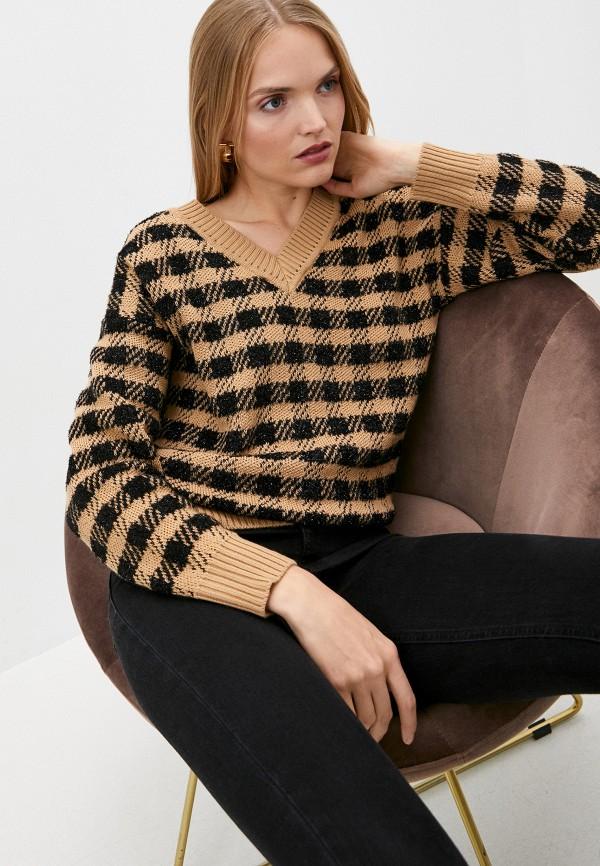 женский пуловер pinko, коричневый