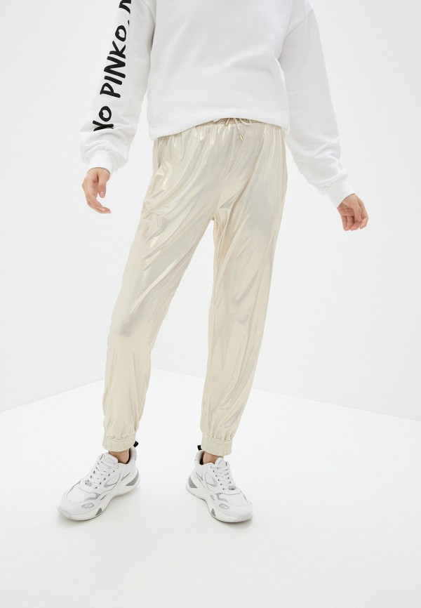 женские брюки pinko, золотые