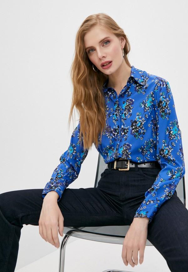 женская блузка pinko, синяя