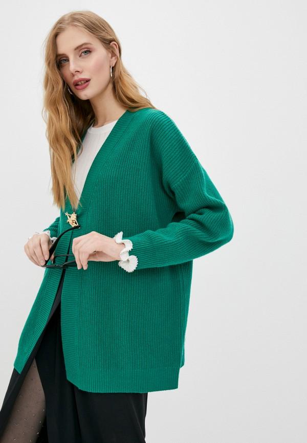 женский кардиган pinko, зеленый