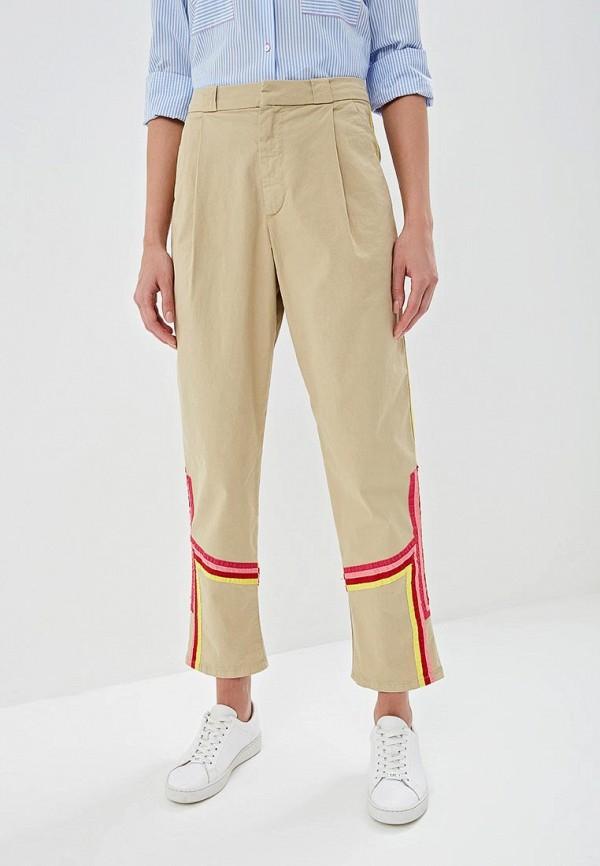 женские повседневные брюки p jean, бежевые
