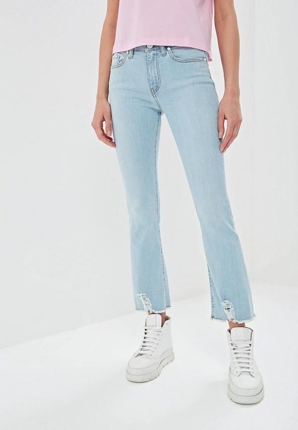 женские прямые джинсы p jean, голубые