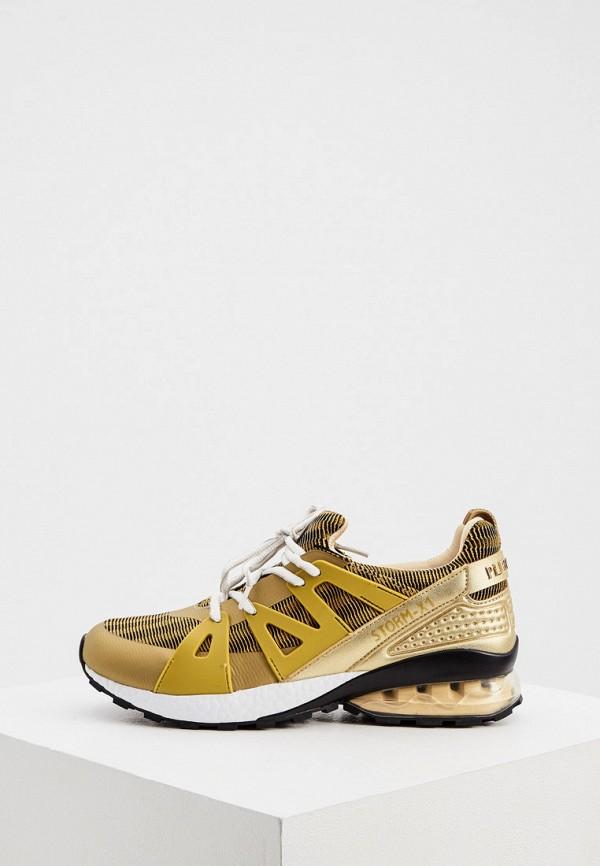женские кроссовки plein sport, золотые
