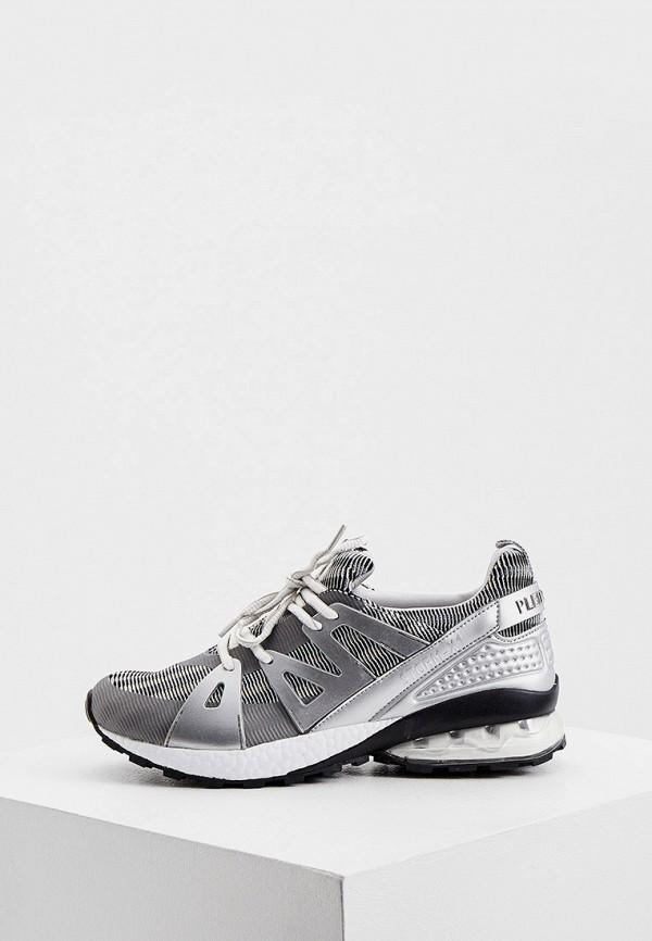 женские кроссовки plein sport, серебряные