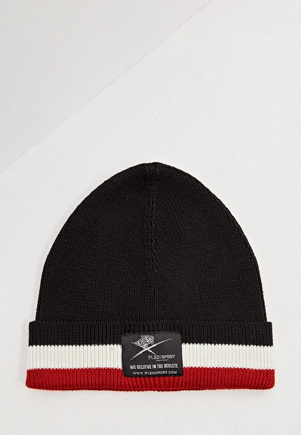 мужская шапка plein sport, черная