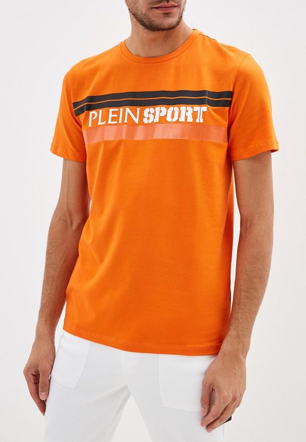 мужская футболка plein sport, оранжевая