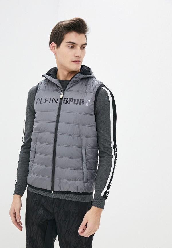 мужской жилет plein sport, серый