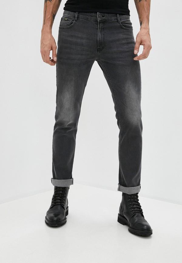 мужские зауженные джинсы plein sport, серые