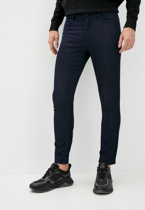 мужские зауженные джинсы plein sport, синие