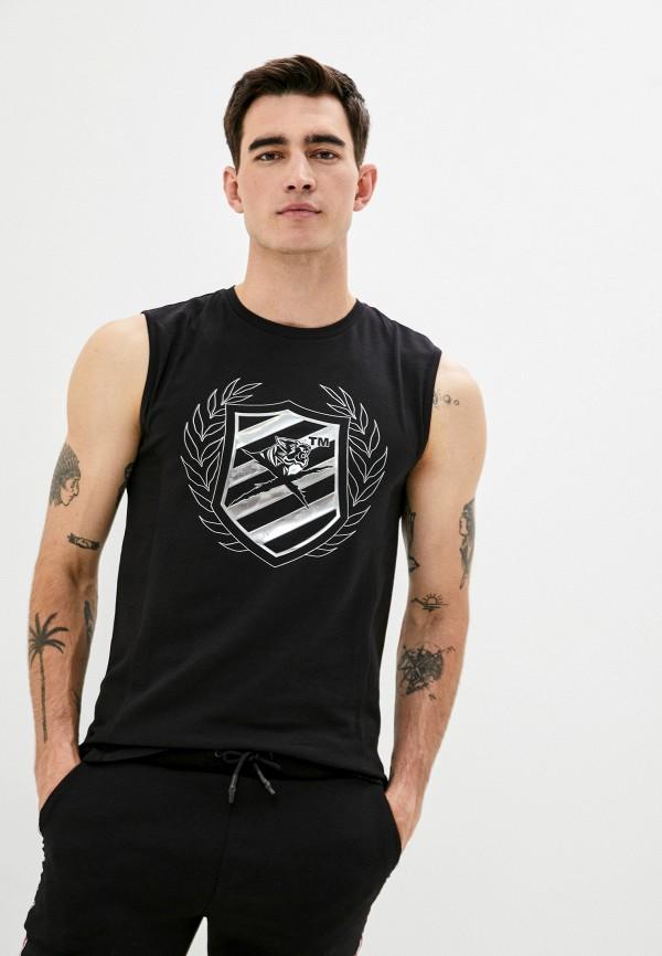 мужская футболка plein sport, черная