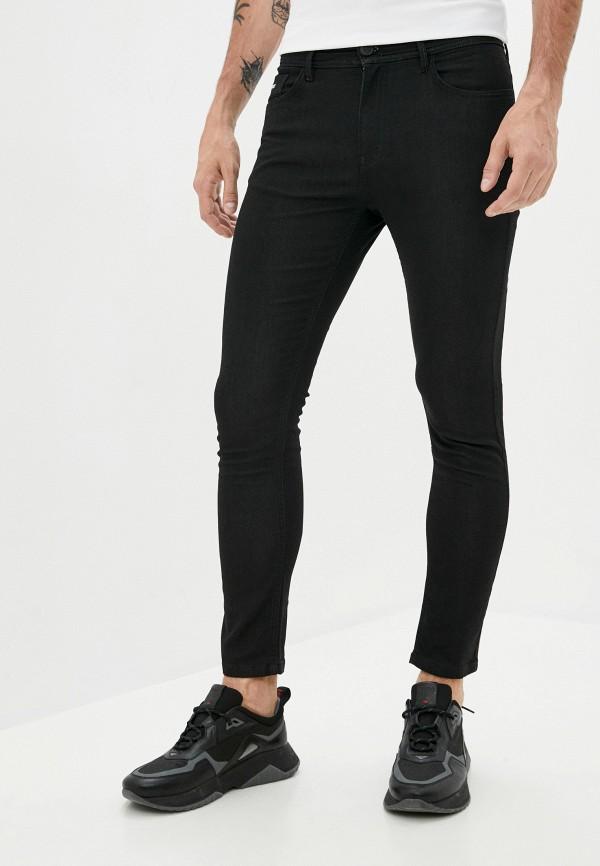 мужские зауженные джинсы plein sport, черные