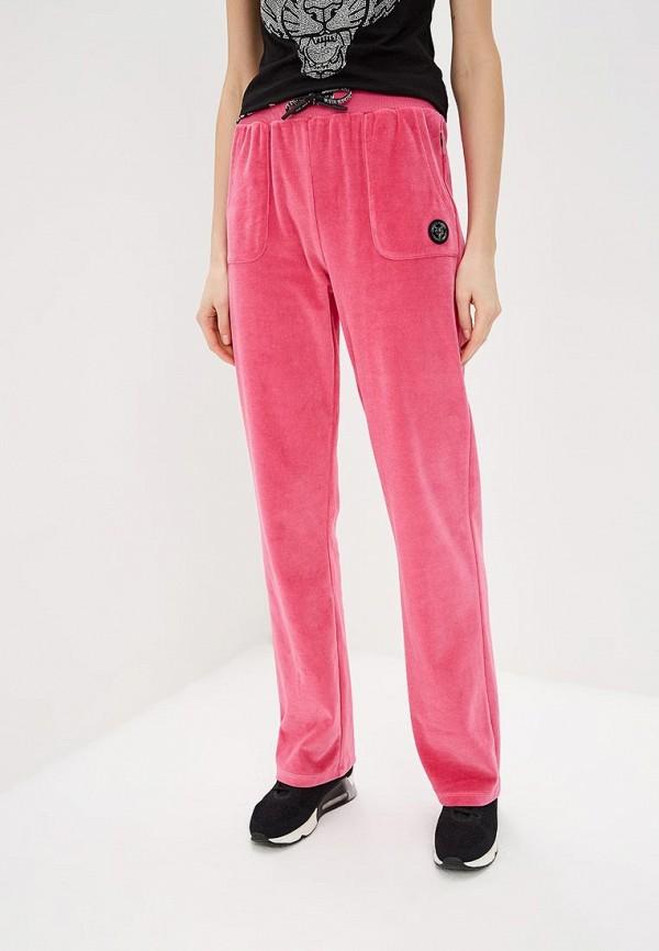 женские спортивные спортивные брюки plein sport, розовые
