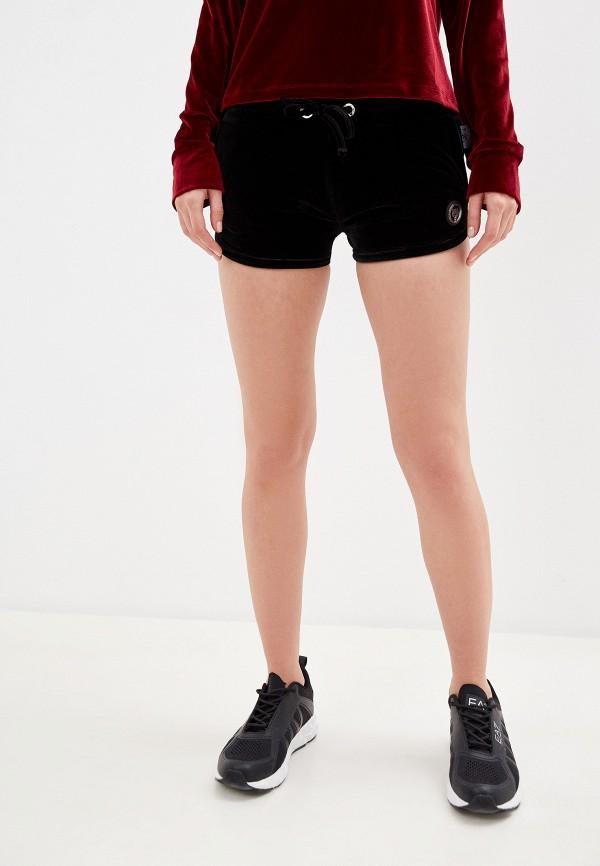 женские спортивные шорты plein sport, черные
