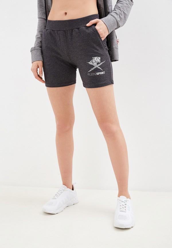 женские спортивные шорты plein sport, серые
