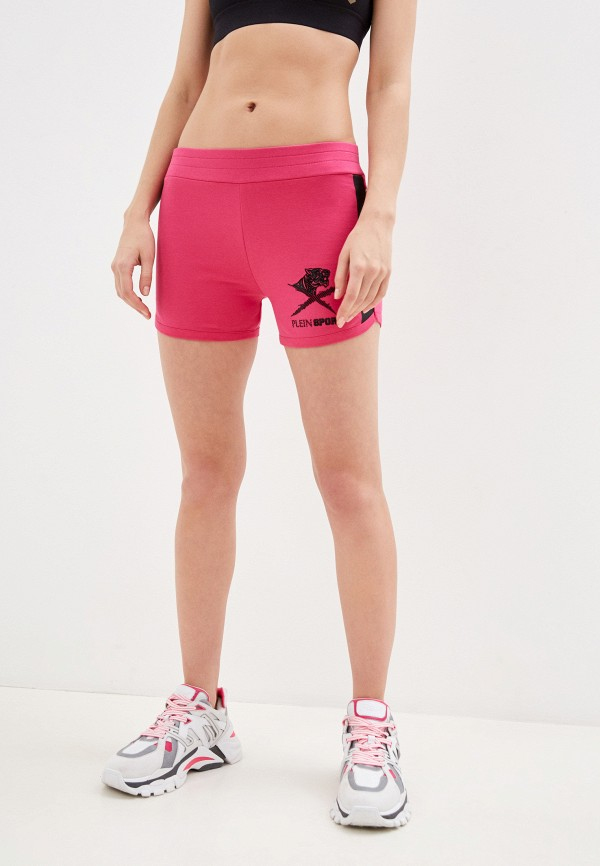 женские шорты plein sport, розовые