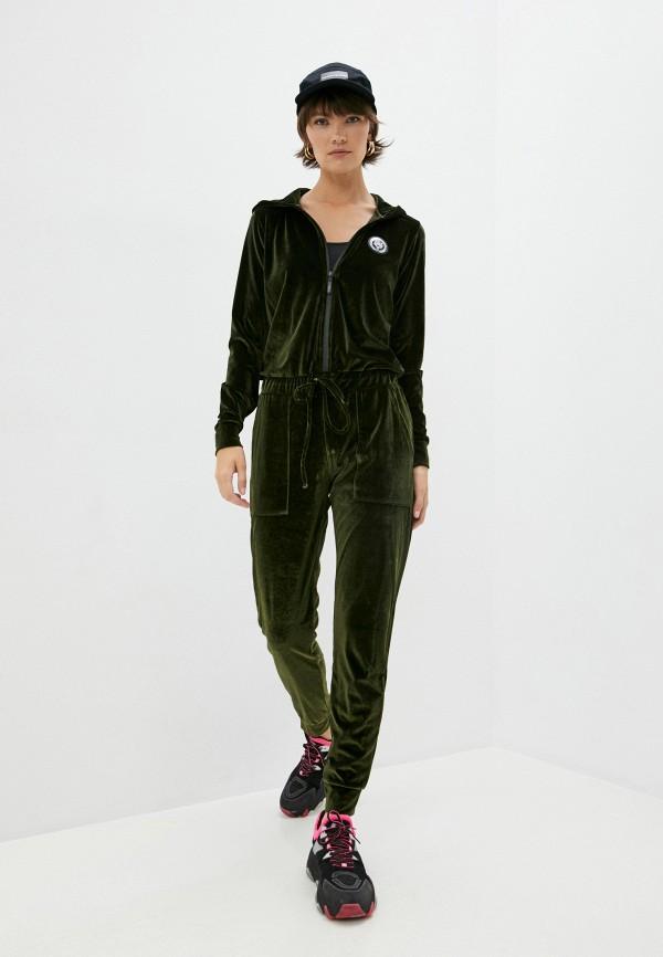 женский комбинезон plein sport, зеленый