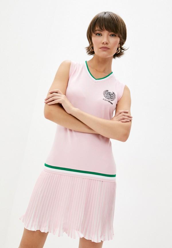 женское платье plein sport, розовое