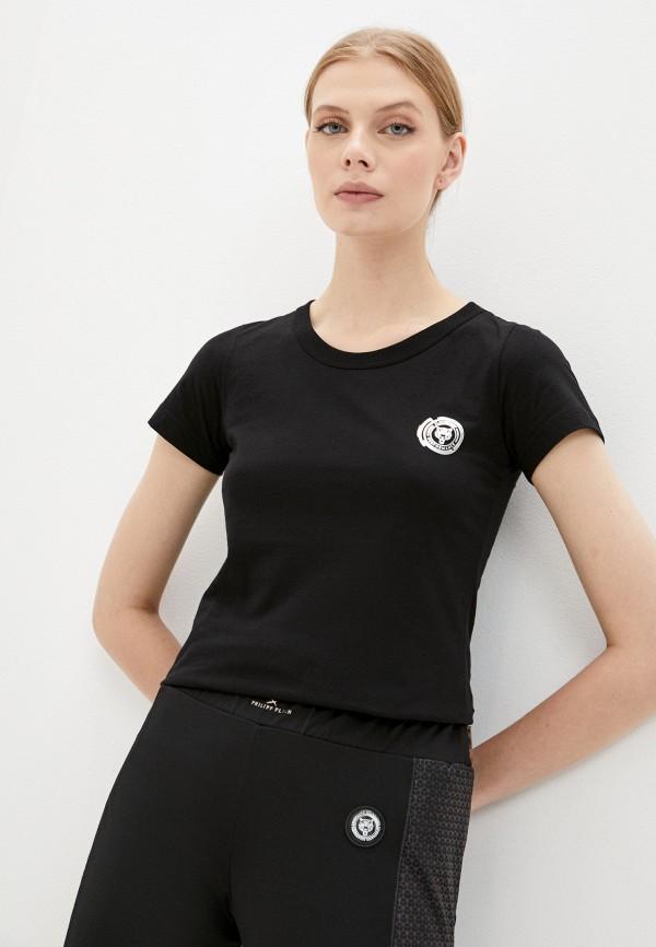 женская футболка plein sport, черная