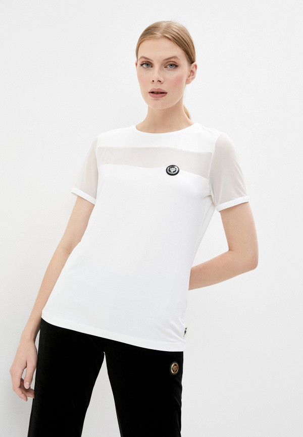 женская футболка plein sport, белая