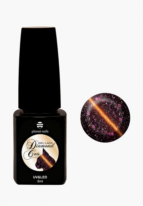 лак для ногтей planet nails, коричневый